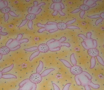 Pink Bunny on yellow