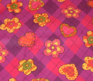 Plaid Hearts & Flowers Pink