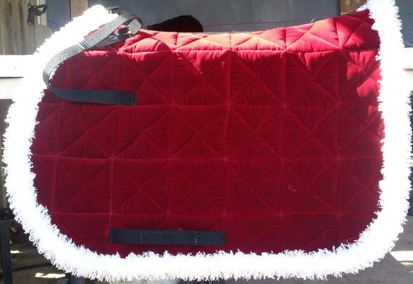 Winter Horse Blankets >> R9 Custom Horse, Velveteen Saddle pads